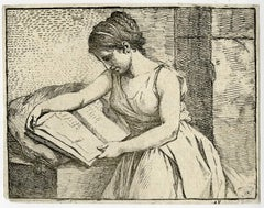Untitled - A woman reading a book.