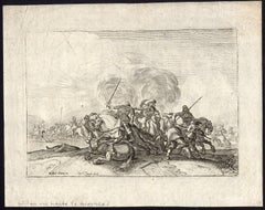 Untitled - Fight of horse riders (during eighty year or thirty year wars).