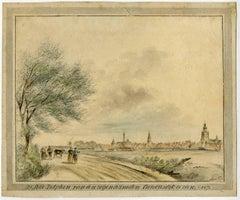 De Stad Zutphen van den zogenaamden canonsdijk te zien. 1807.