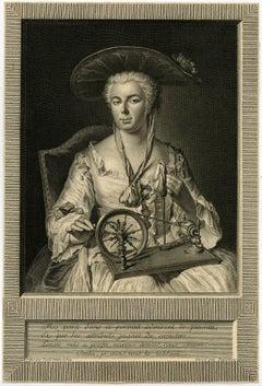 Mes Yeux dans ce portrait admirent le pinceau, et par les attributs jugent [...]