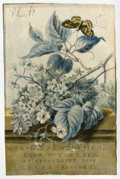 Ge-etste bloemen door W: van Leen en gecouleurt door J. C. & A. Coebergh.