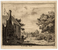 De Harreberg Emaus - View near Haarlem of the Emaus inn.