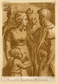 Untitled - Portrait of two men and two women and a small child.