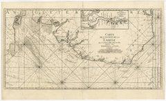 Carte de l'entree de la Tamise avec les bancs, passes, isles et costes [...].