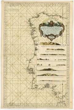 Carte reduite des costes d'Espagne et de Portugal [...].