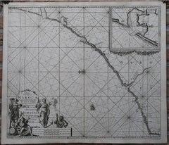 Pascaert Van de Kust van Maroca beginnende van Larache tot aan C. Cantin.
