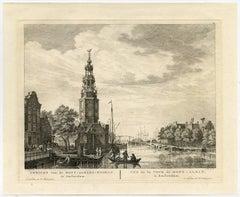 Gezicht van de Mont-Albans-Tooren te Amsterdam.