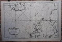 Carte reduite de Partie de la Mer du Nord comprise entre l'Ecosse, [...].