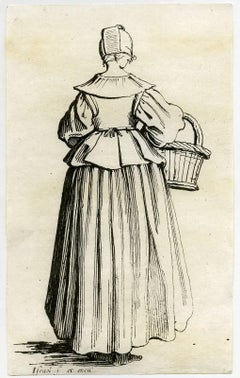 Untitled - A woman with a basket seen from behind.