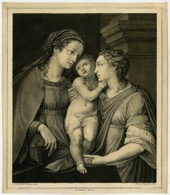 Untitled. Mary with Jesus and another woman (Elizabeth).