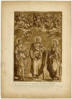 St. Paul accompagne de deux saints.