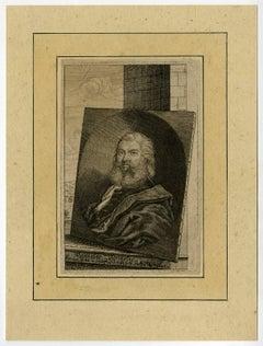 Balthasar Permoser [...]. - Portrait of the sculptor Balthasar Permoser.