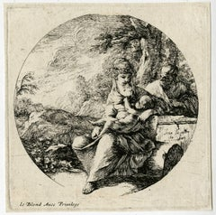Untitled - The holy family resting on the flight to Egypt.