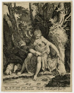Naias una fuit nymphae Syringa [..]. - A bathing Syrinx spied upon by Pan.