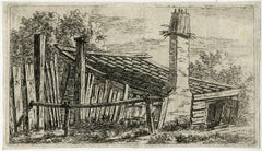 Untitled - Landscape with a small barn.