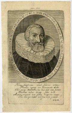 Ioh. Freitagius [..]. - Portrait of Johannes Freitagius [...].