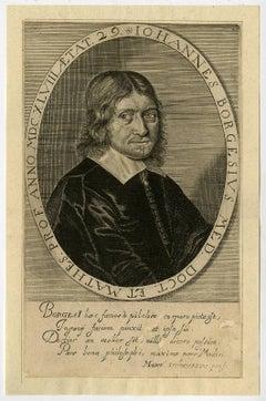 Iohannes Borgesius med. Doct. [..]. - Portrait of Johannes Borgesius [...].