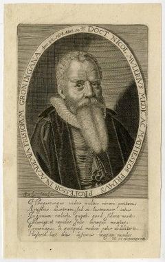 Doct. Nicol. Mulerus medica [..]. - Portrait of Nicolas Mulerus [...].