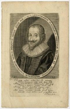 Conradus Matthaeus [..]. - Portrait of Conrad Matthaeus [...].