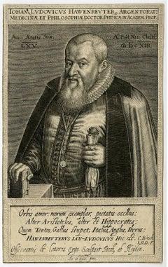Iohan Ludovicus Hawenreuter [..] - Portrait of Johann Ludwig Hawenreuter.
