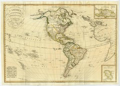 L' America Setentrionale e Meridionale - A map of North and South America.