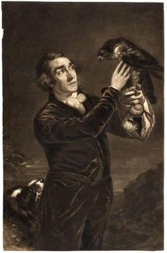 The falconer - Portrait of Samuel Northcote, junior, holding a falcon.
