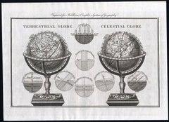 Terrestrial Globe - Celestial Globe - An Earth globe and a Celestial globe.