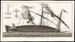 Plate II: 'Marine, dessein d'une galere a la Rame nommee la Reale.