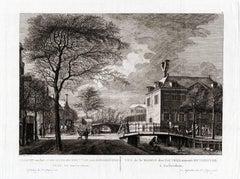 Gezicht van het Oude-Zyds-Huyszitten-Aalmoesseniers-Huis, tot Amsterdam.