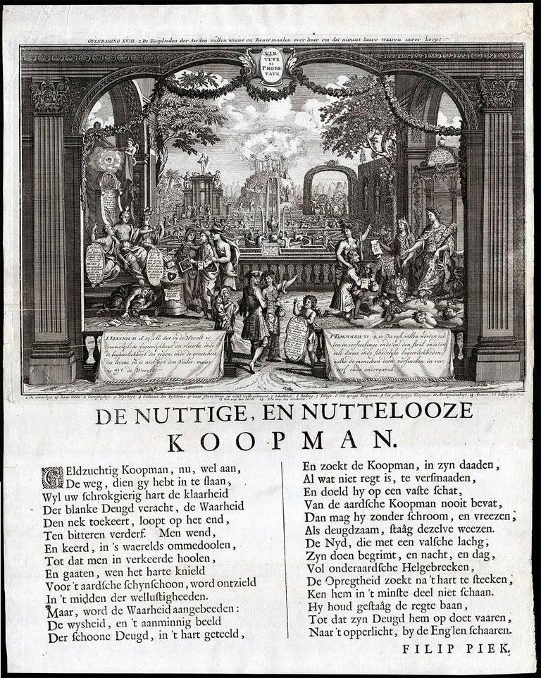 Unknown Figurative Print - Plate 57: Virtute et probitate.