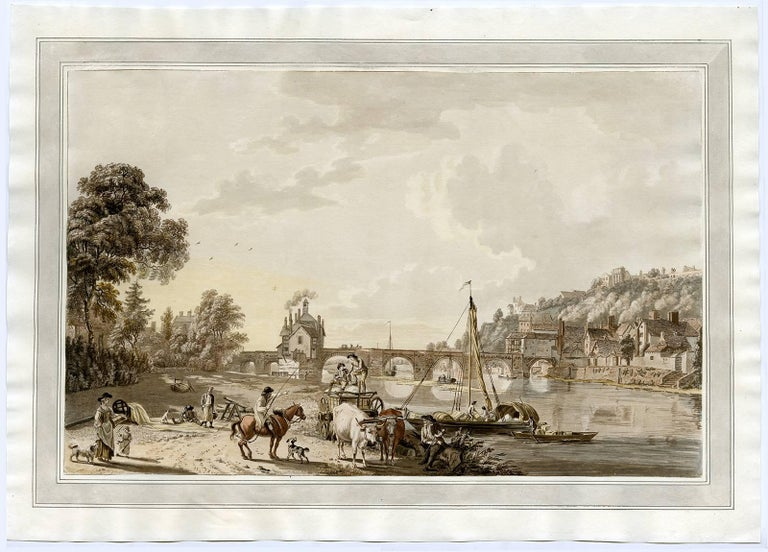 Paul Sandby Landscape Print - South East view of Bridge-North in Shropshire.