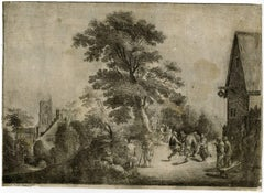 Untitled - This print shows a village revel scene [...].