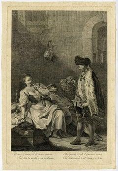 Dorme il marito ed al furtivo amante [...] - A married woman whose husband [...]
