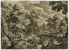 Untitled - Landscape with the baptism of Christ.