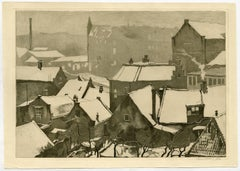 Untitled - View of a city in snow.