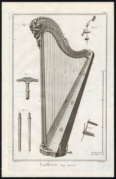 Plate 19 - 21: Lutherie, Harpe Organisee.