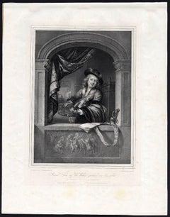 Gerard Dow auf der Violine spielend von ihm selbst - A self-portrait of Gerard.