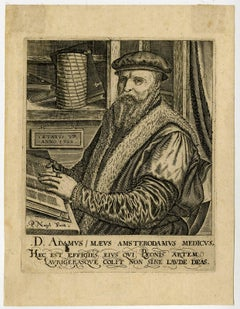D. Adamus Maeus [..] - Portrait of the physician Adam Maeus from Amsterdam.