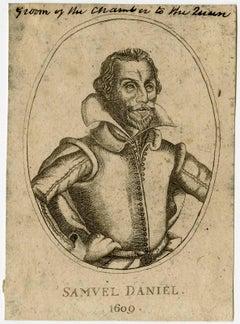 Samuel Daniel 1609 - Portrait of the author Samuel Daniel.