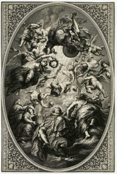 Untitled - Depiction of the ceiling painting in the Banqueting house in London.