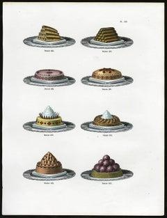 Untitled. Plate 123, Dessins 426-433: 426-433 - Luxury serving plates.