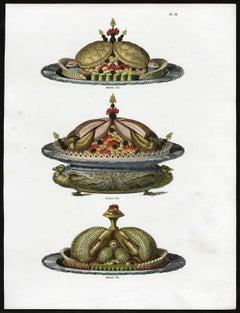 Untitled. Plate 50, Dessins 155-157: 155 - Luxury serving dish.