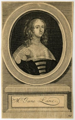 Mrs. Jane Lane - Portrait of lady Jane Lane.