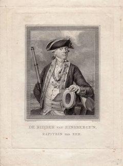 De ridder van Kinsbergen kapitein ter zee.