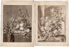 Untitled - Two still lifes of fruit and flowers.
