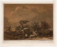 Untitled - A skirmish between soldiers and cavalry.