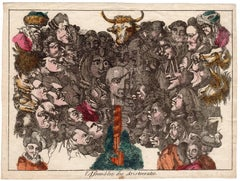 L'assemblee des aristocrates - Caricature on the French aristocracy.