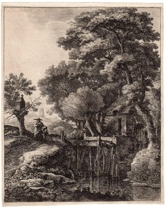 Untitled - Landscape with a watermill.