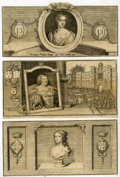 Untitled - Portraits of three female members of the house Stuart.