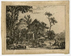 Untitled - Small landscape with farm.